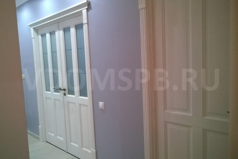 Двери из сосны покрытие белый воск