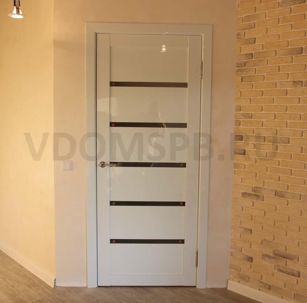 Дверь белый глянец