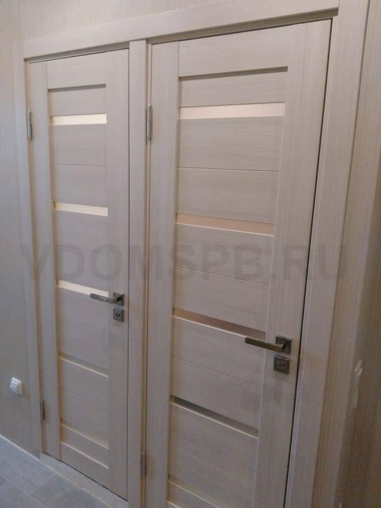 Царговые двери экошпон в ванную и туалет