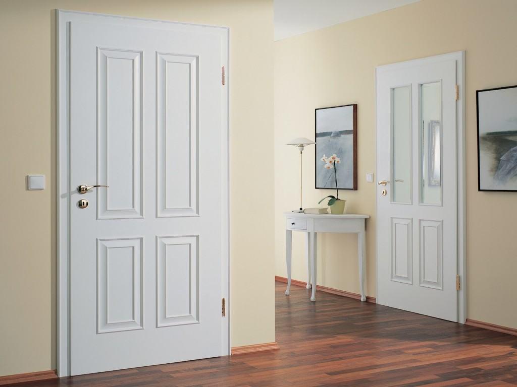 4-х филёнчатые двери в интерьере прихожей