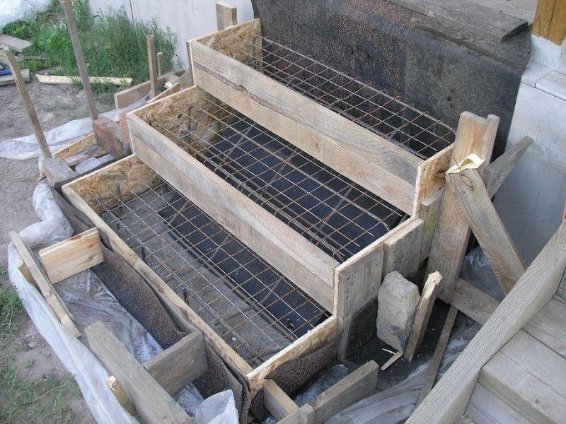 Сооружение опалубка ступеней
