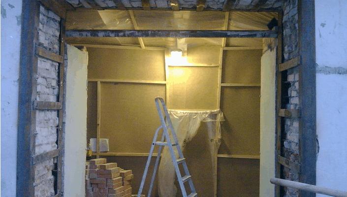 Увеличение дверного проема без дверей