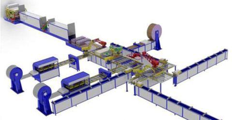 Автоматическая линия по изготовлению металлических дверей