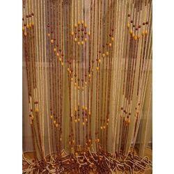 Бамбуковая, с деревянными бусинами