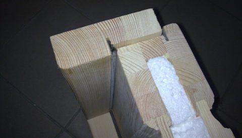 Блок дверной, утепленный пенопластом