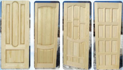 Бюджетные двери из массива сосны под покраску