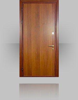 Применение ламината в отделке двери