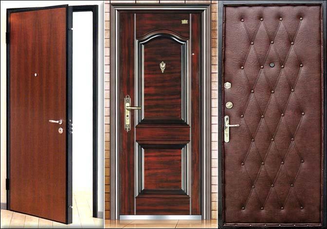 Материалы для отделки двери