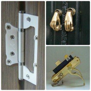 Ручки, замки и петли для дверей
