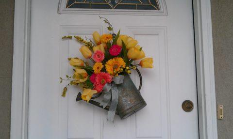 Декор для дачной входной двери