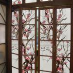 Декор раскладной двери в японском стиле