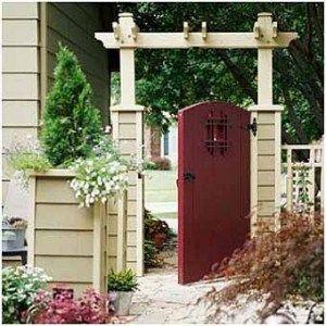 декоративная калитка и ворота