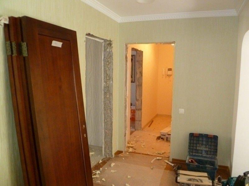 демонтаж монтаж межкомнатных дверей