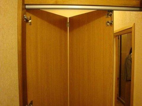 Деревянные двери гармошка