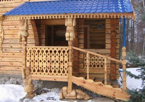 дизайн крыльца деревянного дома