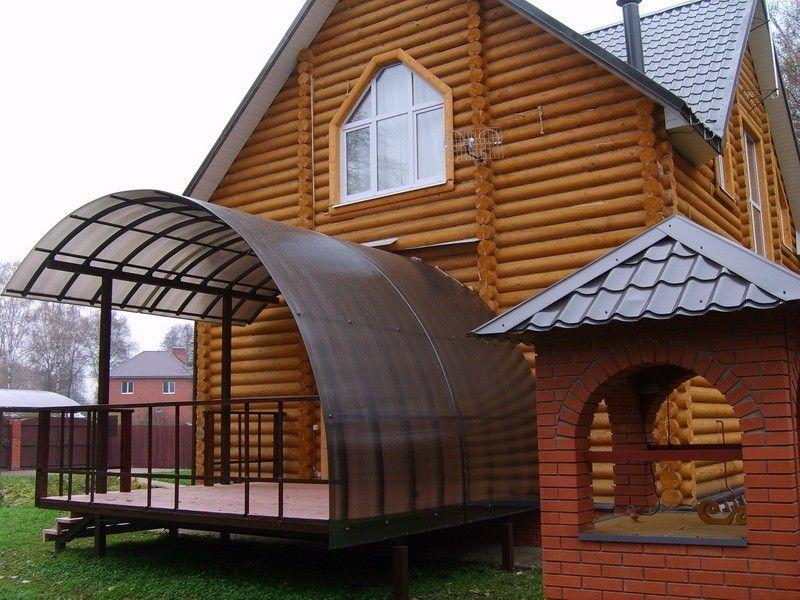 дизайн крыльца в частном доме