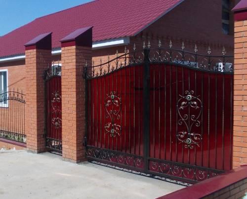 дизайны ворот с калиткой