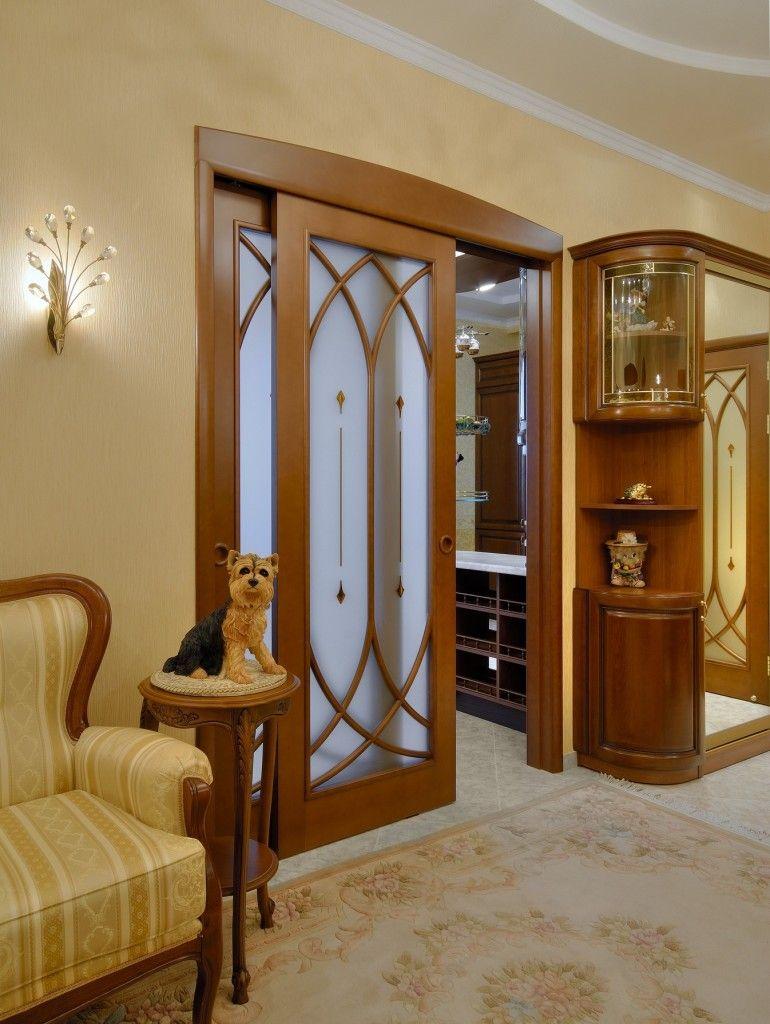 Дверь, с направляющей, вмонтированной в гипсокартонную перегородку
