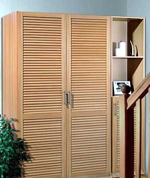 Двери для шкафов жалюзийные