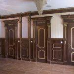 Двери из дерева в стиле ампир
