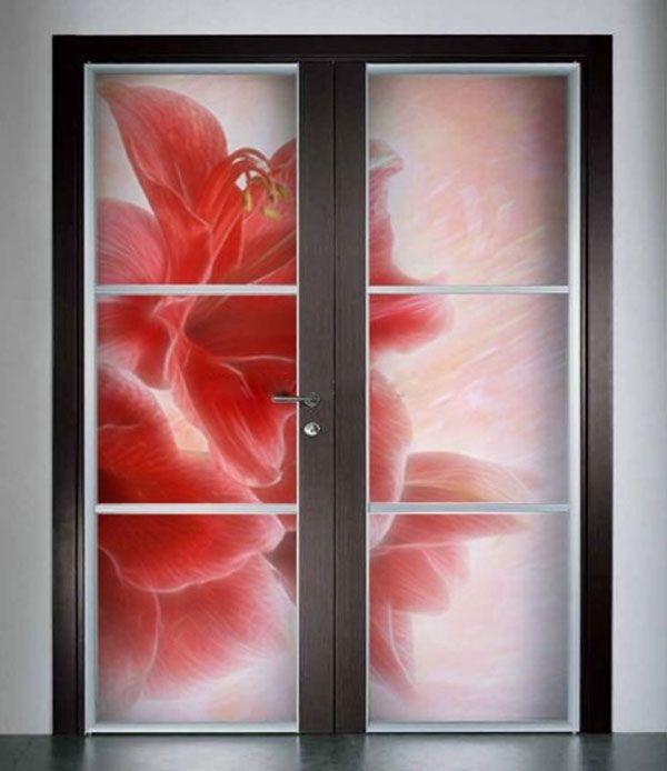 двери межкомнатные с витражом
