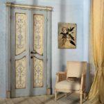 Двери прованского интерьера часто покрывают патиной