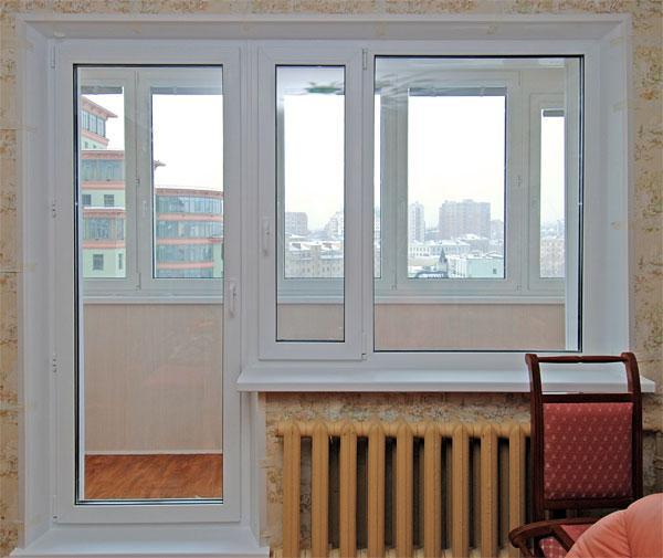Двери пвх балконные