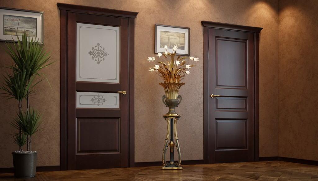 Двери с тремя филёнками