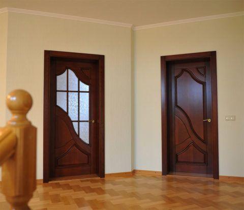 Двери в пределах одного помещения должны иметь одинаковые ручки