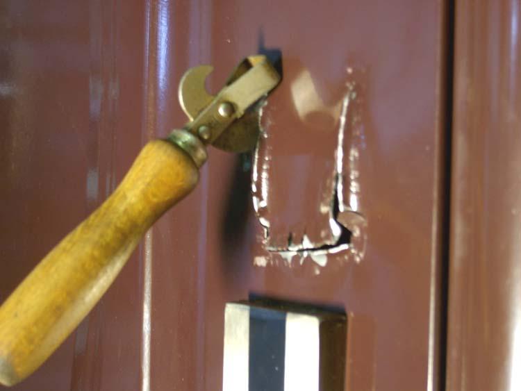 Разрезаем полотно двери