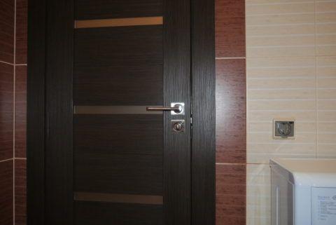 Дверное полотно для ванной из эко шпона