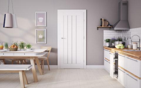 Дверное полотно должно сочетаться цветом и дизайном с окружающей обстановкой