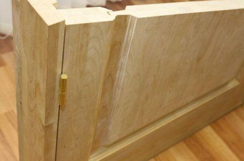 Дверное полотно массив сосны филенка в разрезе