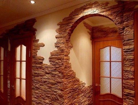 Дверные арки, оформление камнем