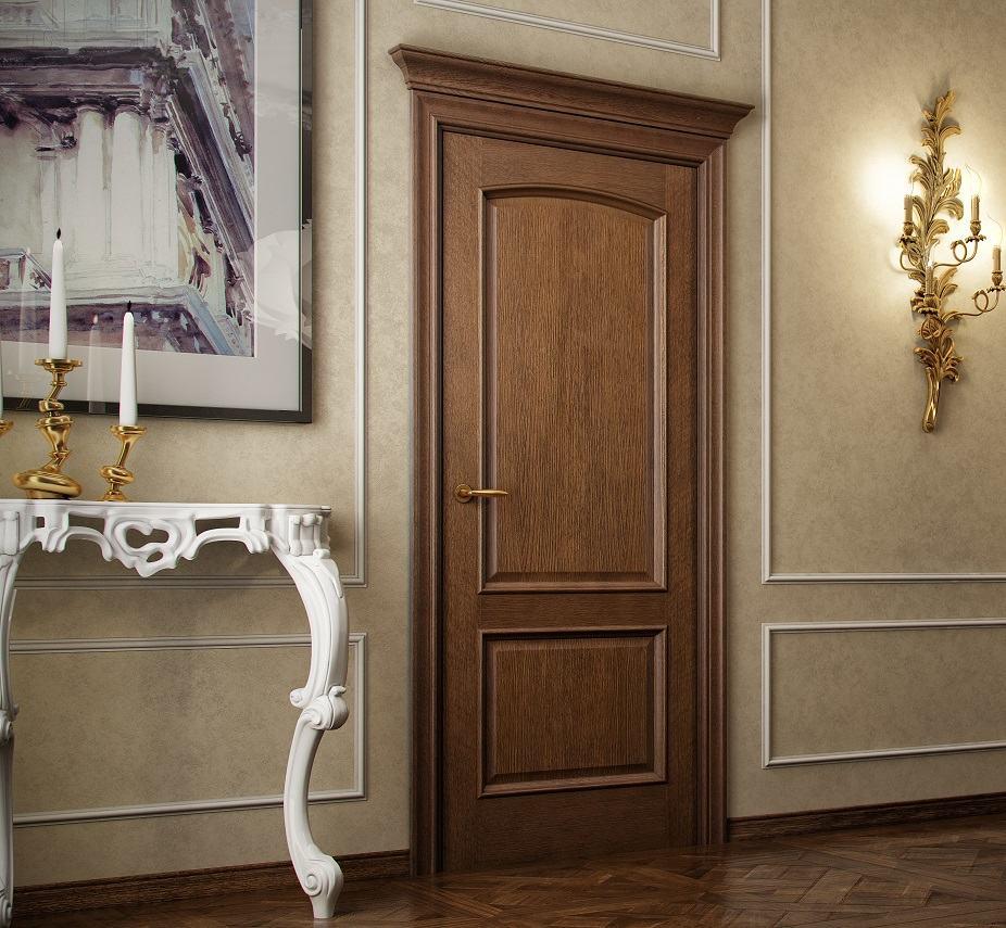 Двухфилёнчатая дверь со шпоновым покрытием