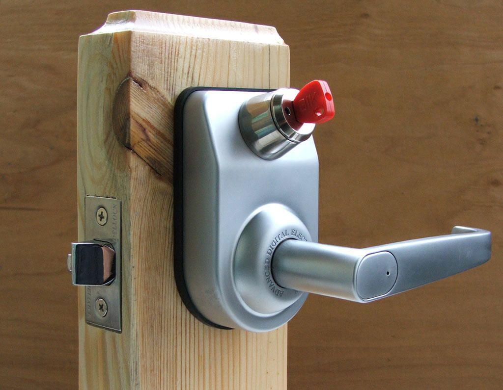 Электромеханическая защитная система двери