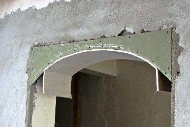 bзготовление арок из гипсокартона видео