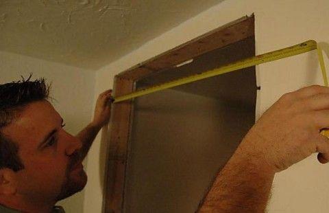Измерение ширины проема