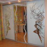 Изображение на дверях пескоструйным методом