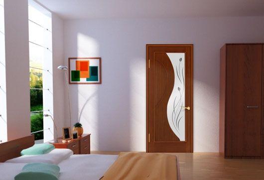 Применение шпонированых дверей