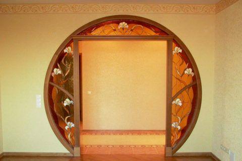 Комбинированный вариант двух видов арок