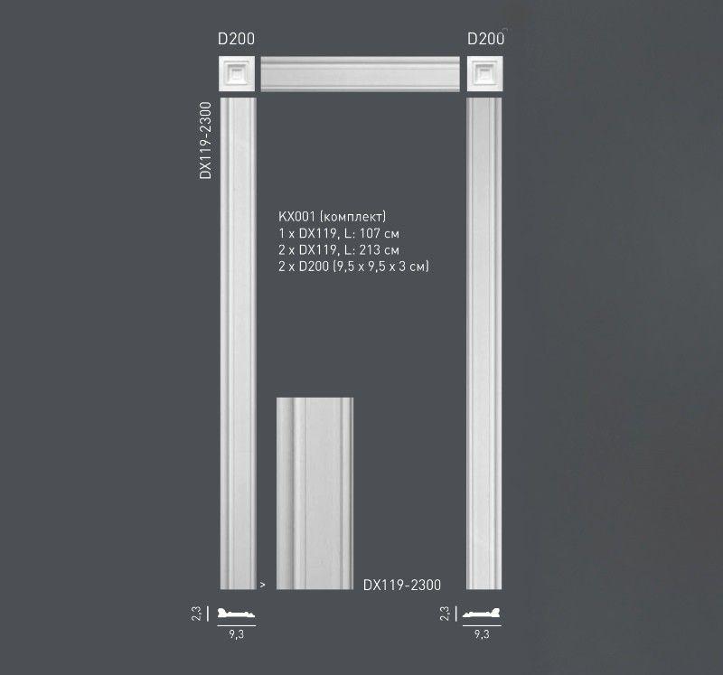 Комплект дверного декора из дюрополимера