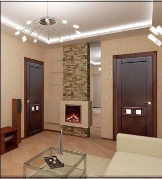 Используем темно-коричневые двери в отделке помещения