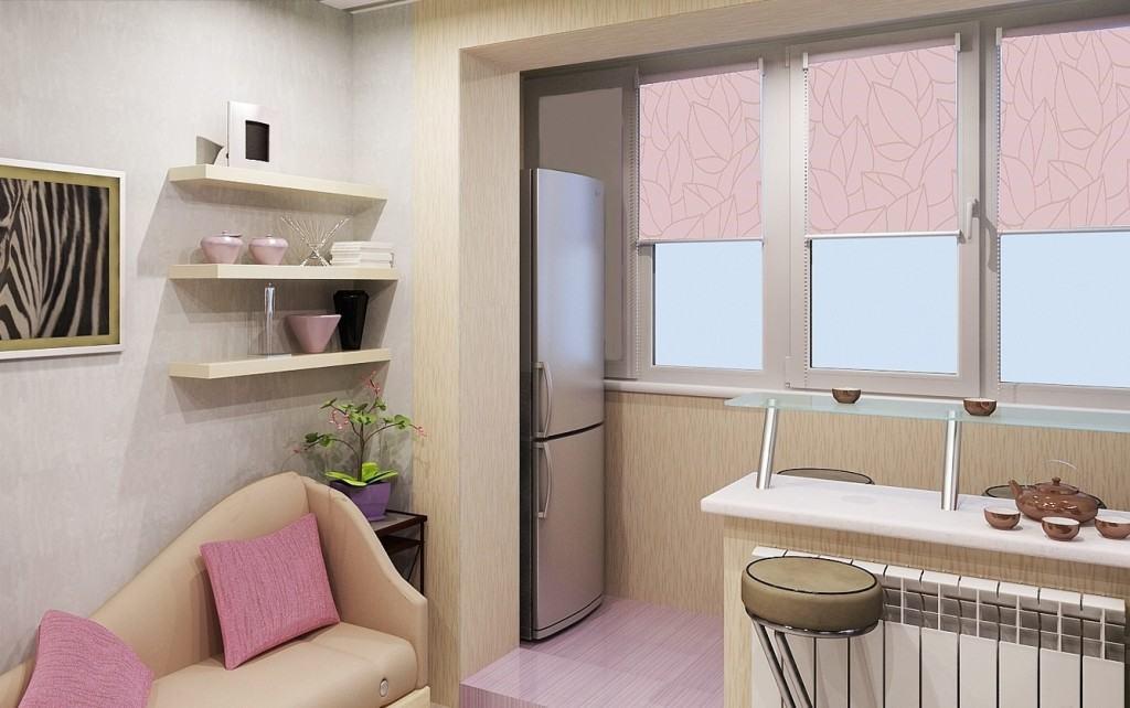 Маленькая кухня с выходом на балкон
