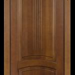 МДФ дверь с изящным сандриком, тоже смотрится неплохо