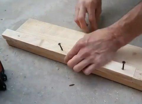 Механическое крепление деталей стойки