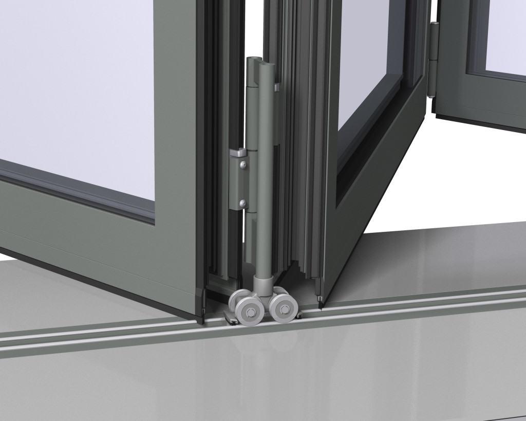 Механизм открывания складной двери