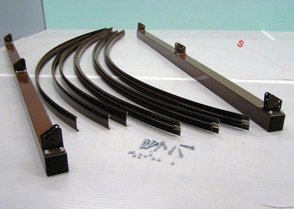 Металлический каркас для установки навеса