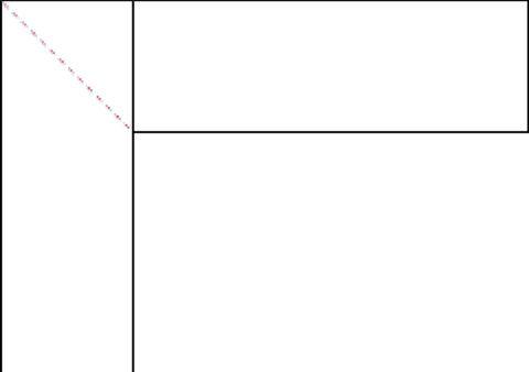 Нанесите линию для зарезки смежных краев профиля
