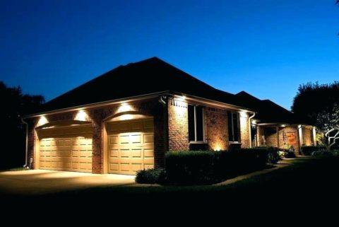 Наружная подсветка гаража